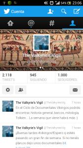 1000 vikingos en Twitter