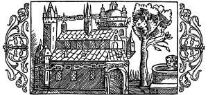 Representación de Uppsala de Olaus Magnis según las descripciones de Adam de Bremen (siglo XVI)