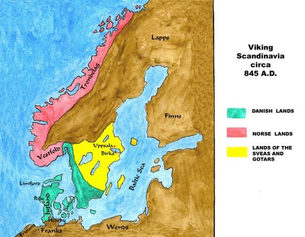 Escandinavia durante la Era Vikinga.