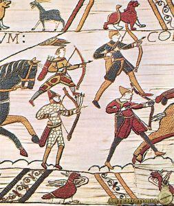 Arqueros en el Tapiz de Bayeux.
