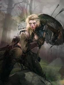 Lagertha (Vikings) por http://nuarestudio.blogspot.com.es/