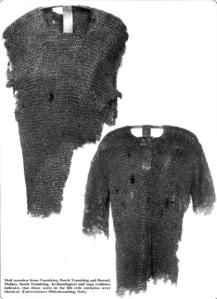 Restos de cota de malla, de los pocos ejemplares de época vikinga.