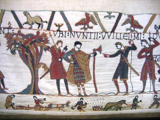 The Dane axe on the Bayeux Tapestry.