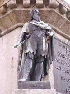 Estatua de Rollón en Normandía.