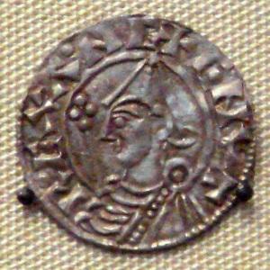 Moneda de Canuto el Grande, en el British Museum.