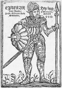 Erik el Rojo en una publicación de 1688.