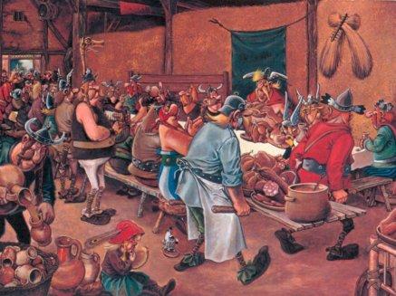 Un banquete vikingo (una pequeña licencia con humor)
