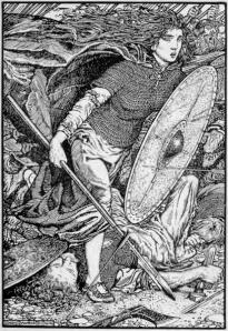 Ladgertha según una litografía del artista Morris Meredith Williams (1913)