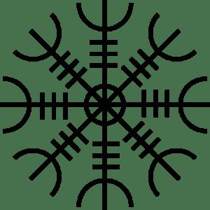 El Símbolo del Ægishjálmr o Ægishjálmur.