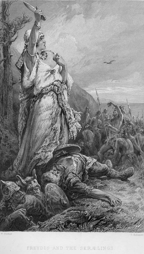 Freydis luchando contra los Skraelingar.