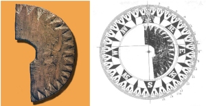 Hipótesis de lo que habría sido la brújula vikinga.