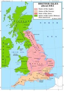 Heptarquía Anglosajona.