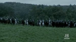 Soldados de caballería anglosajones.