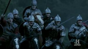 Yelmos anglosajones absolutamente anacrónicos al periodo histórico.