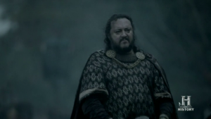 Los vikingos, tras llegar al acuerdo devuelven al rey Aelle.