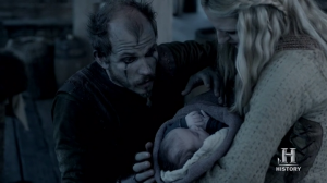 Floki conociendo a su hija, Angrboda.