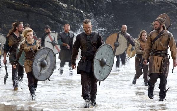 Uno de los escudos que utiliza Ragnar Lodbrok en la serie Vikings.