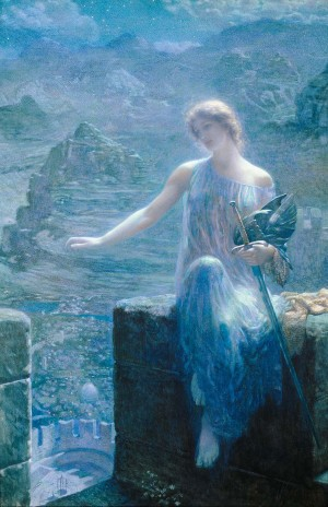 The Valkyrie's Vigil – Edward Robert Hughes