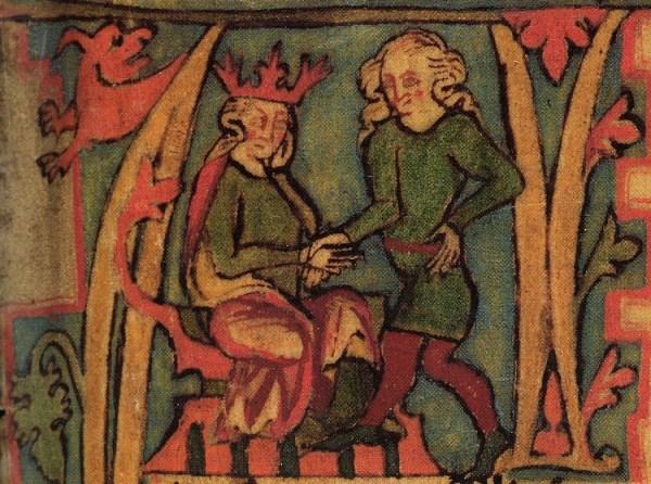 El Rey Harald I y su padre