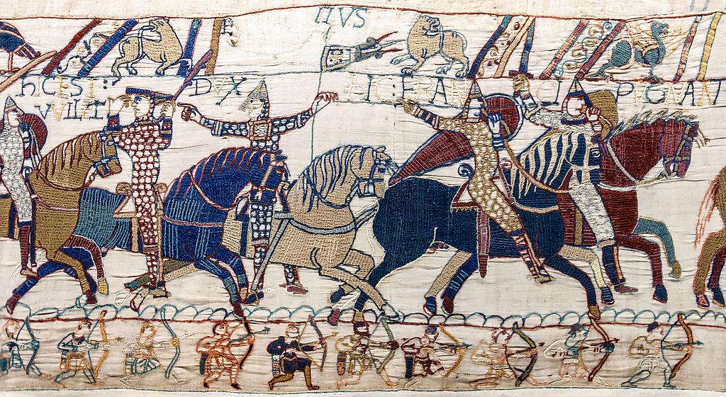 Representación de la Batalla de Hastings (1066).
