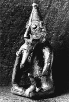 Figurilla de Freyr de época vikinga. Observamos que se le representa con un gran falo.