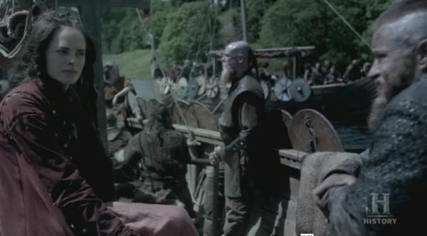 La princesa de Mercia yéndose a la batalla con los vikingos.