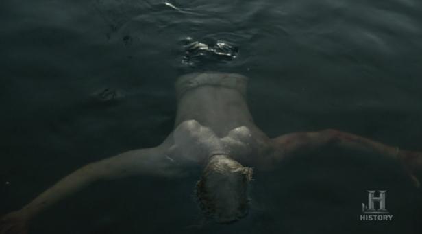 Torstein en el agua.