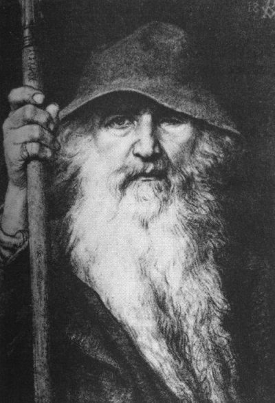 Odin the Wanderer (1896) by George von Rosen