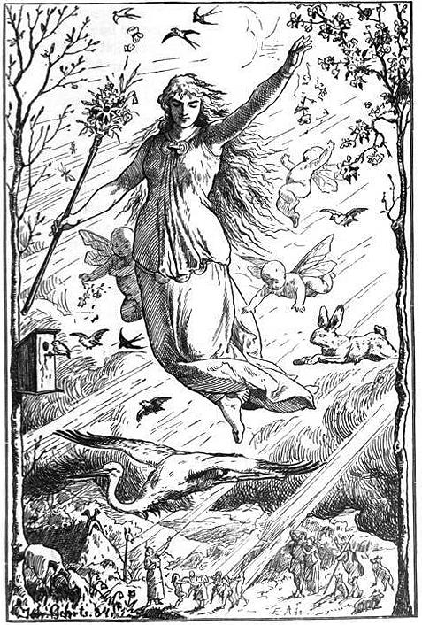 Ostara 1884 por Johannes Gehrts.