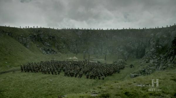 El ejército de Mercia rodeado por arqueros de Wessex.