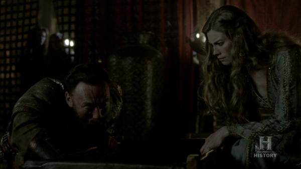 Hárbard calmando a Ivar.