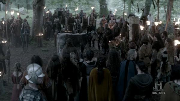 Vikingos preparados para el sacrificio.