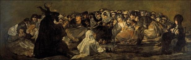 El aquelarre o el Gran Cabrón (1823) – Francisco de Goya.