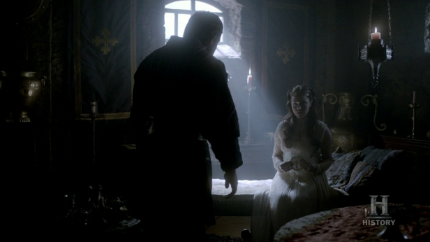 Judith contándole a Ethelwulfo su embarazo.