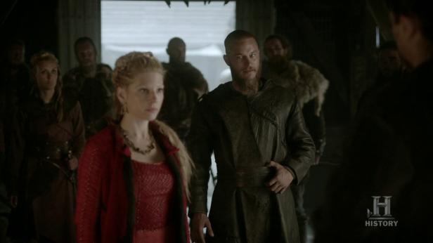 Lagertha y Ragnar enfrentándose a Kalf en Hedeby.