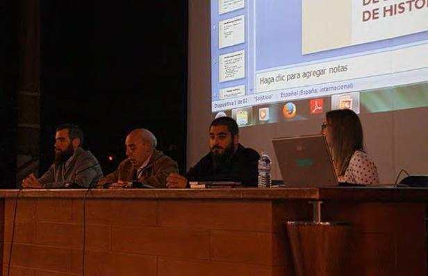 De izquierda a derecha: José Abellán, Manuel Espinar, Alberto Robles y Laia San José