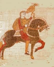 HAroldo II de Inglaterra, según el Tapiz de Bayeux