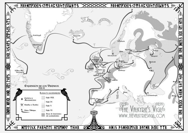 Mapa expansión vikinga