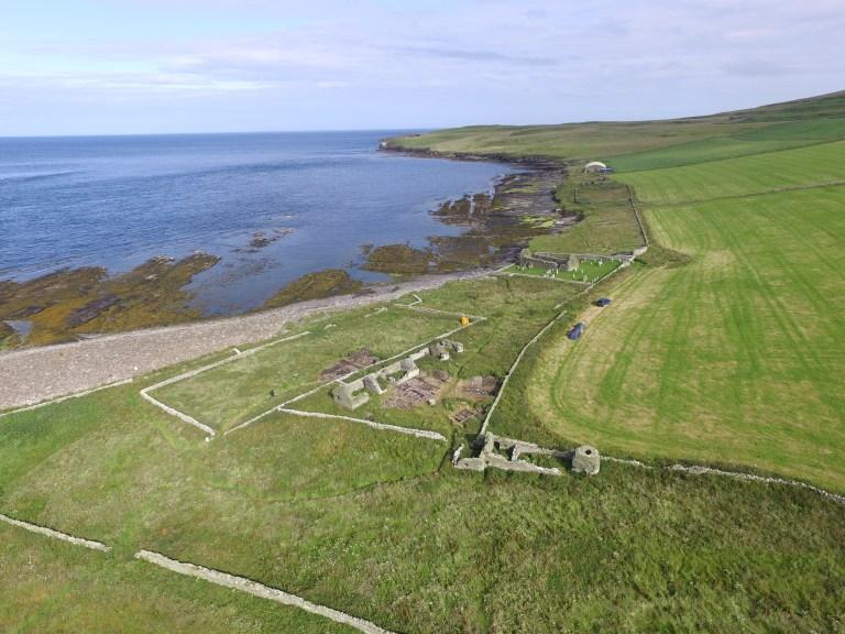 Descubierto un Gran Salón vikingo durante unas excavaciones en las Islas Orcadas